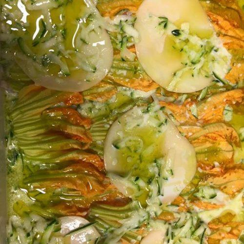 lasagna ai fiori di zucca